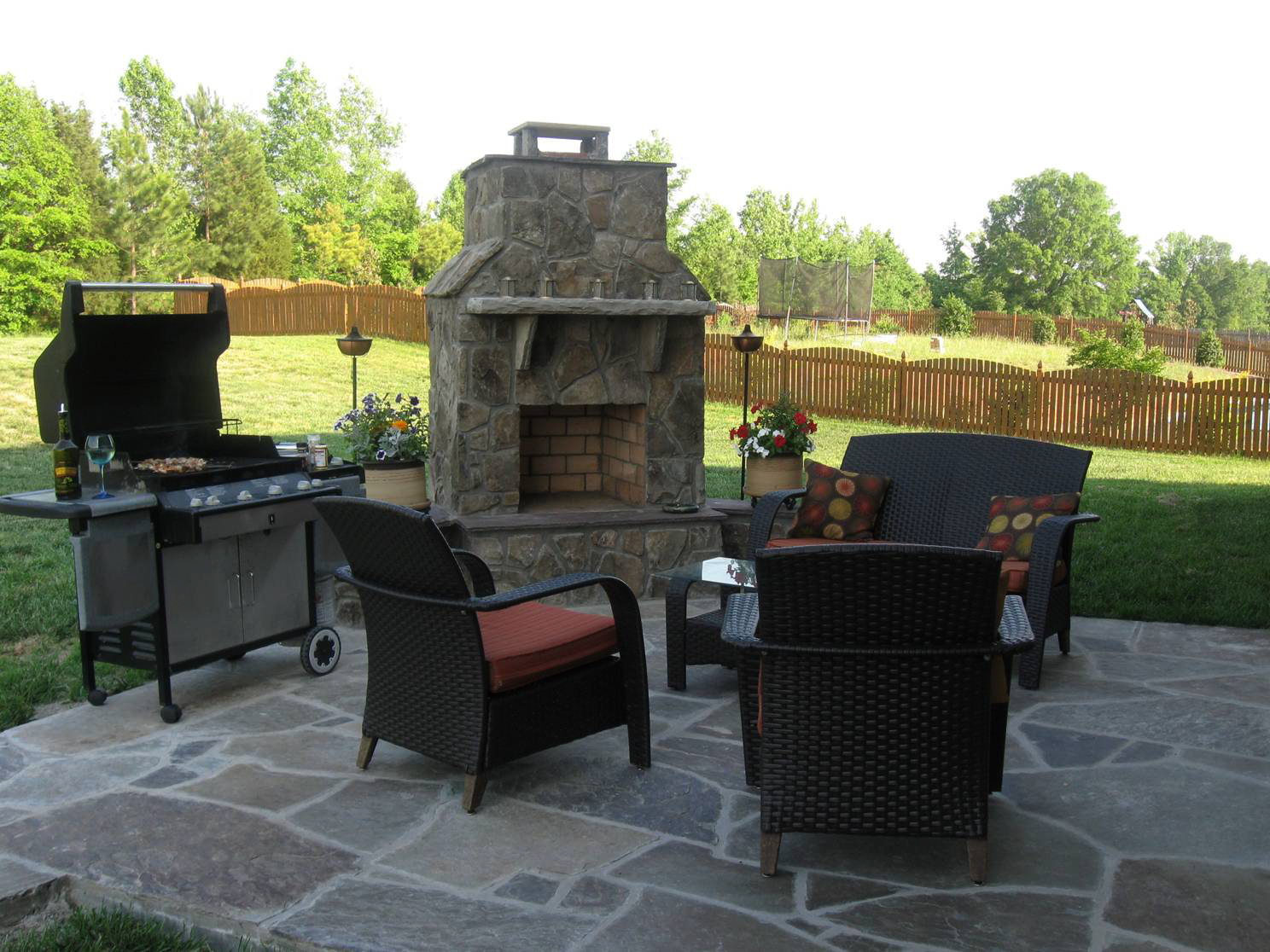 Fireplace And Patio How Do You Make Outdoor Fireplaces And Fire Pits Safe