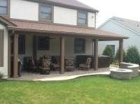 A new open porch, patio, and fire pit in Gahanna OH by