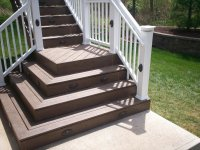 flared deck stairs | St. Louis decks, screened porches ...