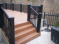 deck benches as railing | St. Louis decks, screened ...