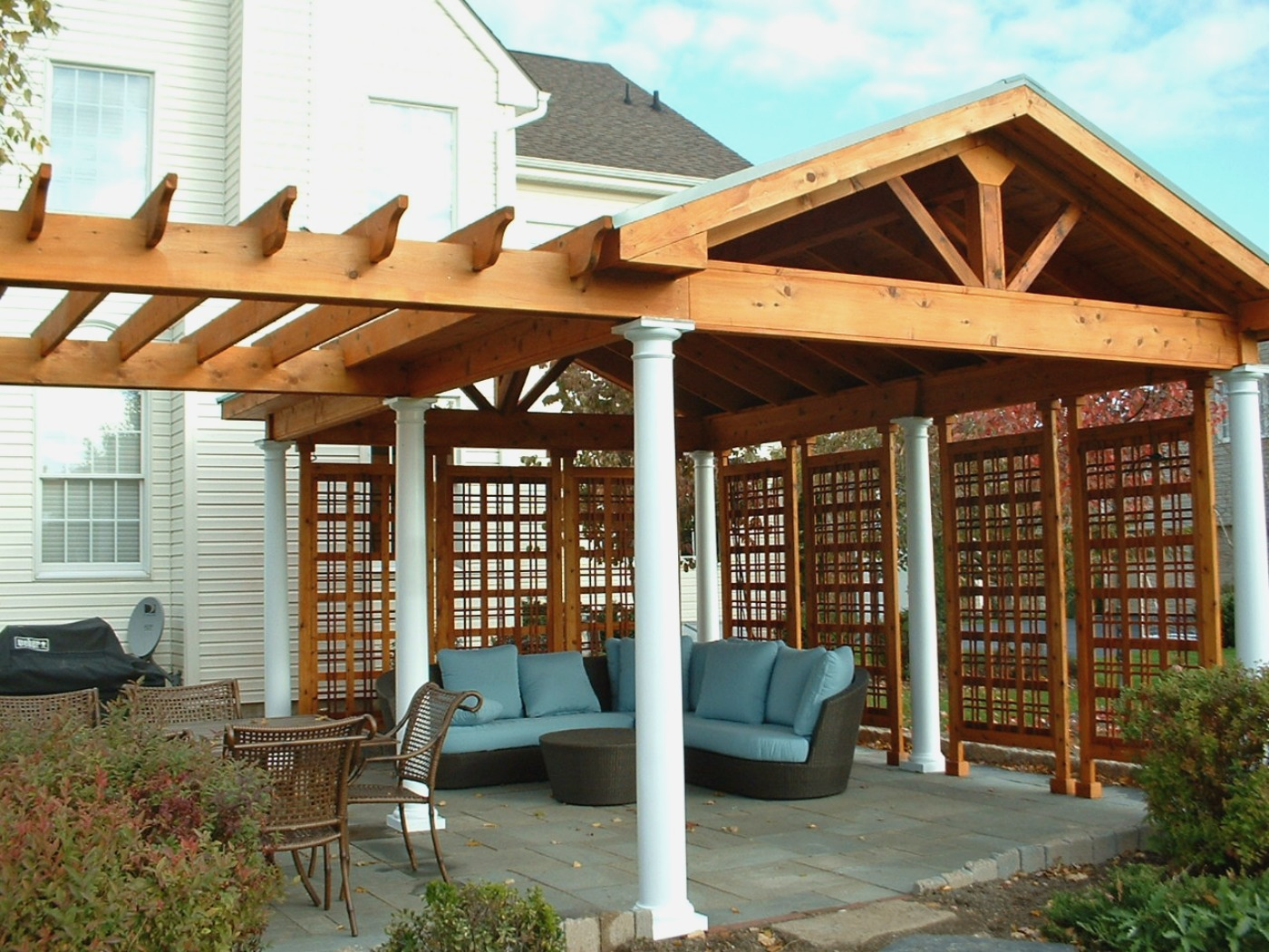 Cover Patio Pergola How To Cover Your Deck Patio Or Porch For Any Price By Archadeck