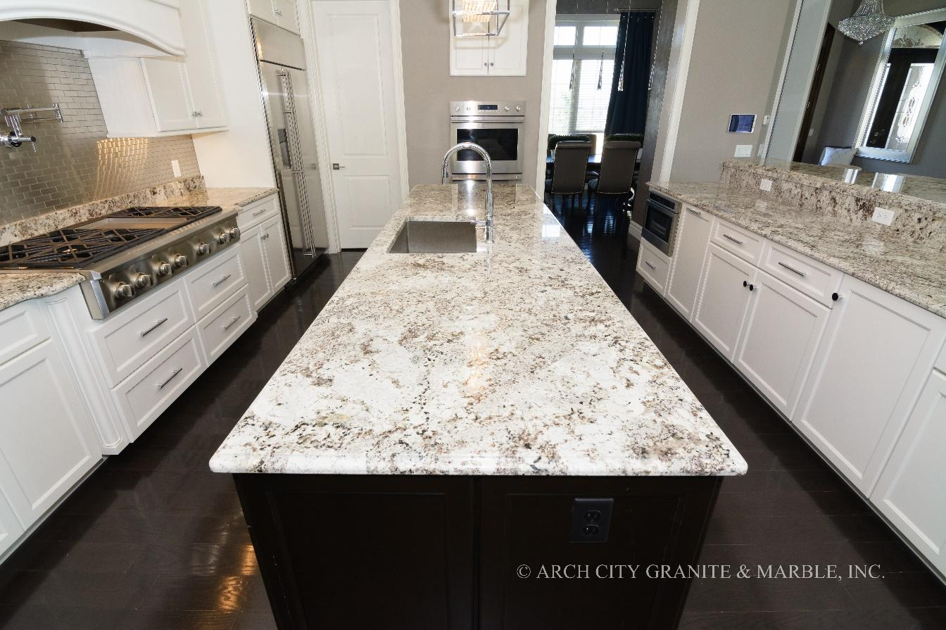 What Color Countertops Go With White Cabinets 12 Trending White Granite Colors In 2018