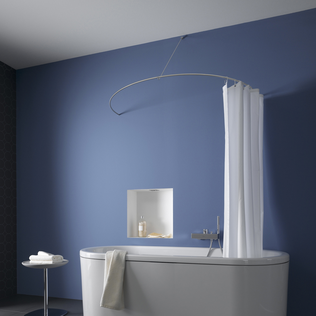 Curved Shower Curtains Rods Curved Shower Curtain Rod As A Semi Circle By Phos Design Gmbh