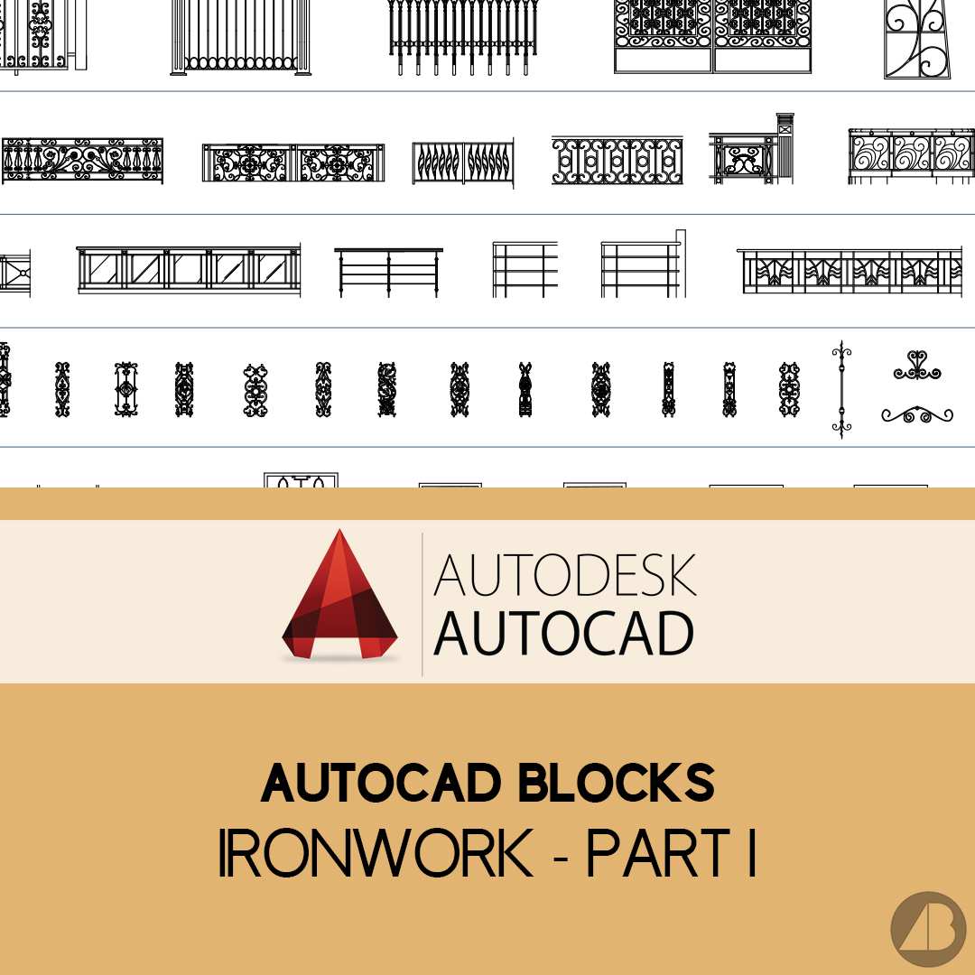 Autocad Blocks Autocad Blocks Ironwork Part 1 Archi Base