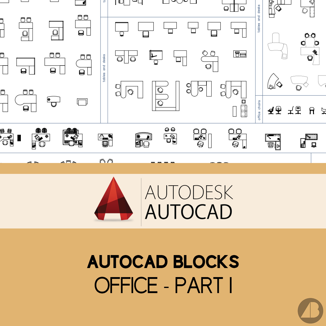 Autocad Blocks Autocad Blocks Office Part 1 Archi Base