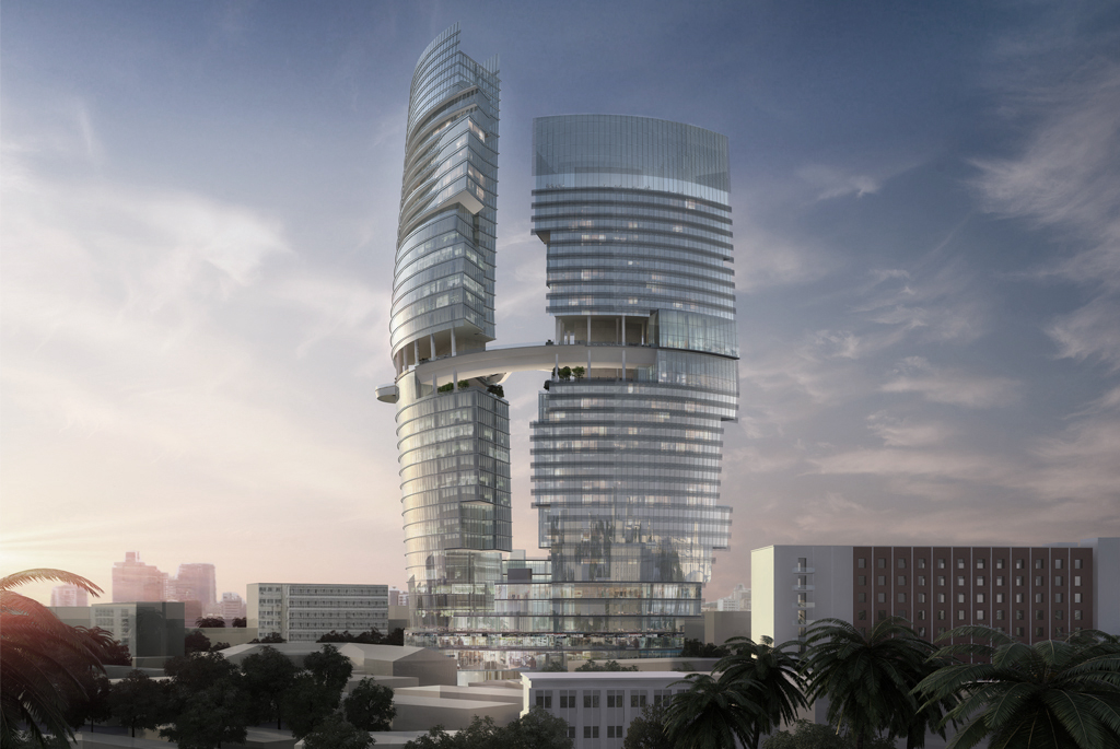 Zapata Mode High Tech Tower, Angola | Carlos Zapata Studio | Archinect