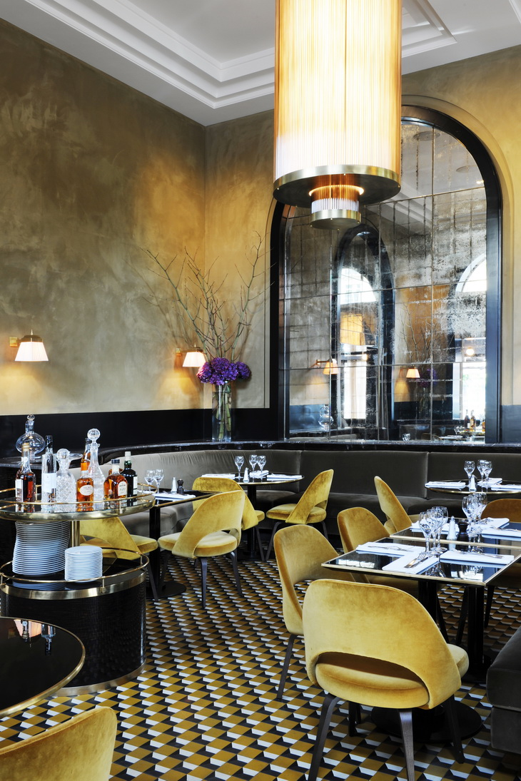 Restaurant Design Paris Renewal Of Le Flandrin Restaurant In Paris Redesigned By Joseph Dirand