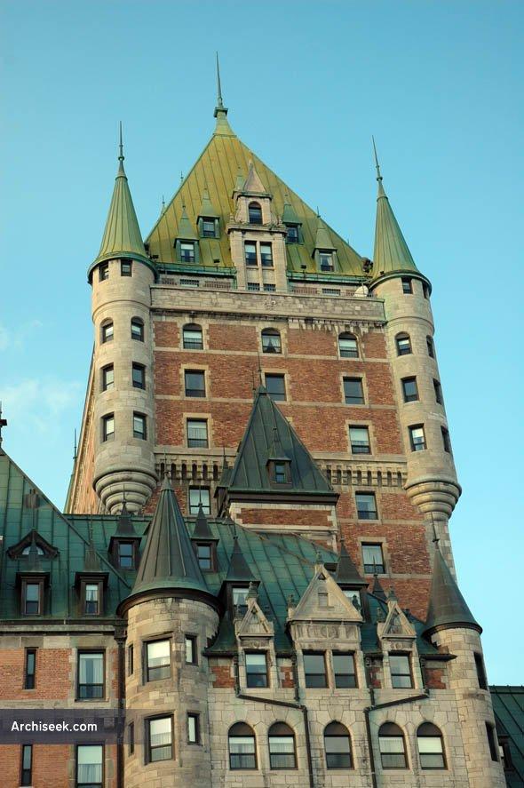 1893 chateau frontenac quebec city quebec for Architecture quebec