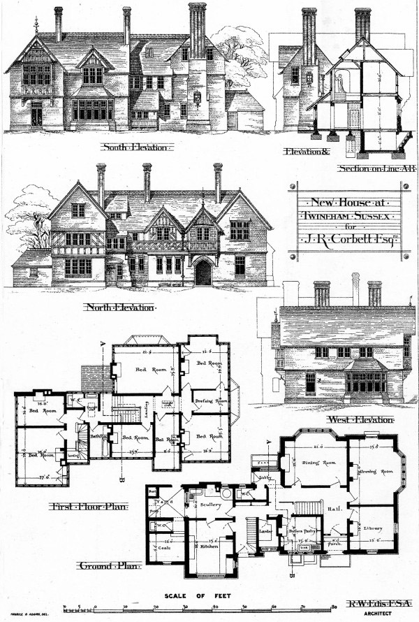 North N Home Plan And Elevation : New house twineham sussex architecture of