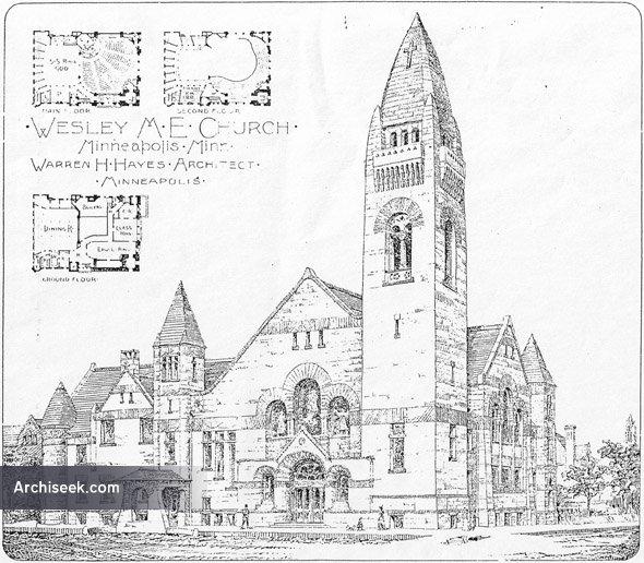 1892 - Wesley Methodist Episcopal Church, Minneapolis, Minnesota