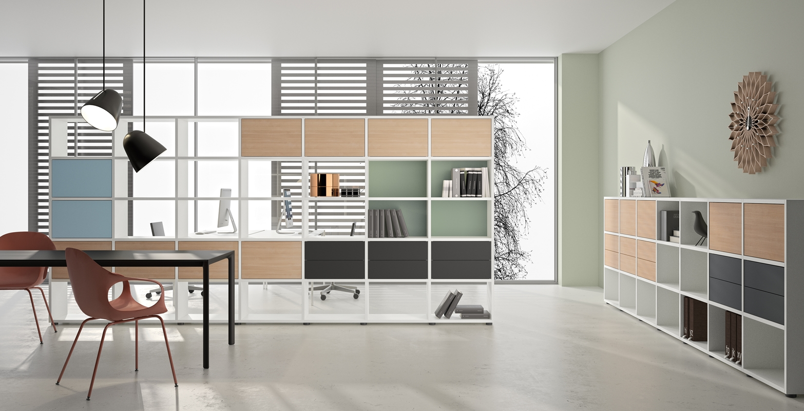 Room Divider Kast Luudo Design Furniture Basic View Roomdivider En Open Kasten