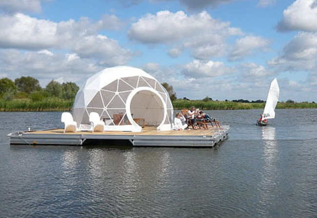 Floating Homes Hamburg The Floating Dome Home Is A Must-see