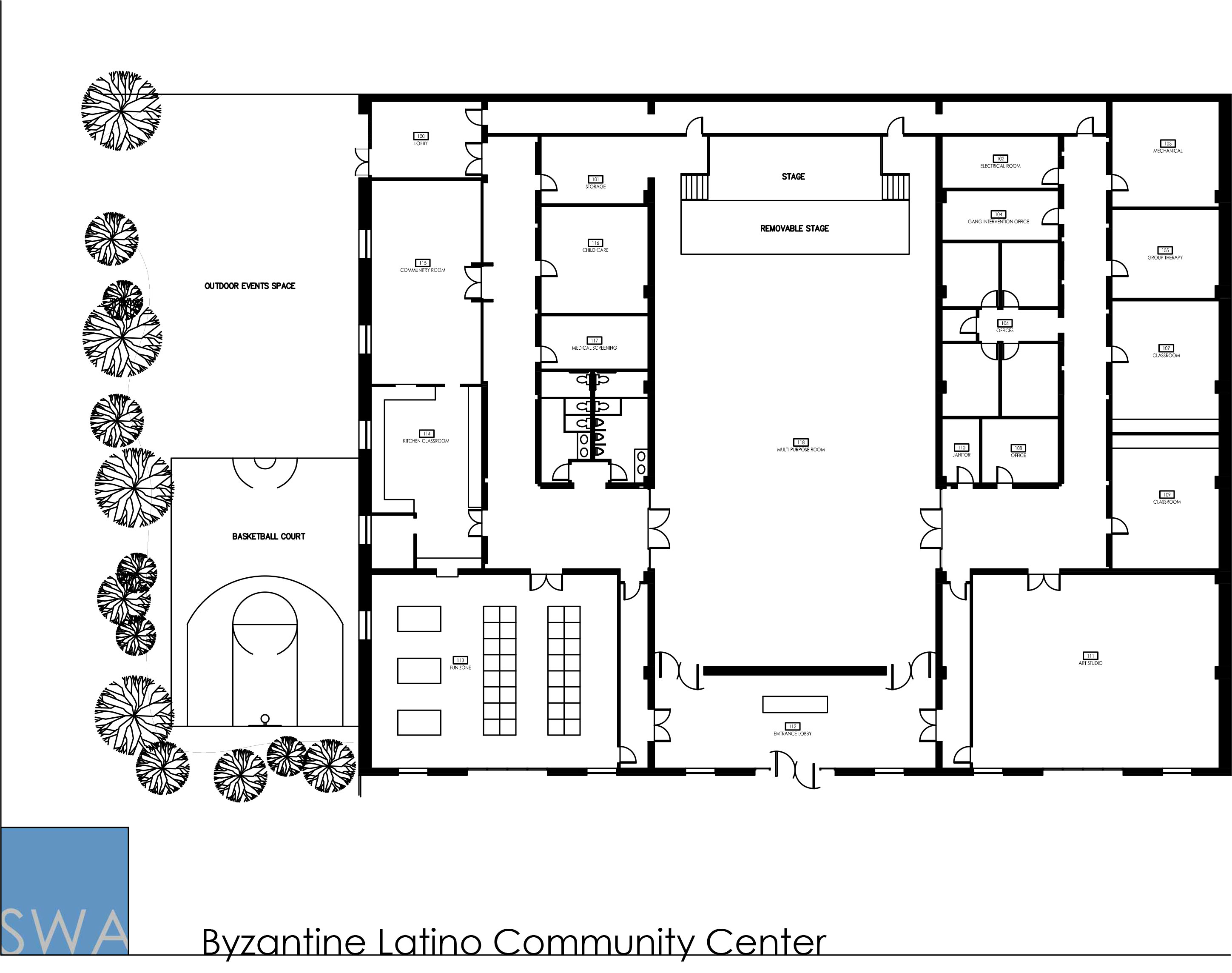 Byzantine Latino Community Center Saunders Wiant Oc