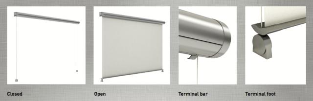 external roller blinds details