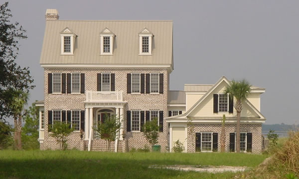 Floor To Ceiling Bay Window Three Story House Plans - 5 Bedroom Colonial Style Home