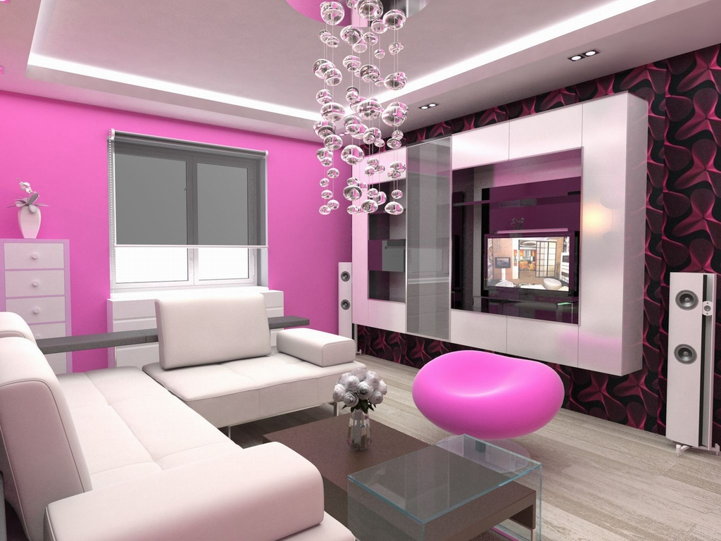 Home Living Room Design Modern Style On Pink Sofas Architecture And Interior Design