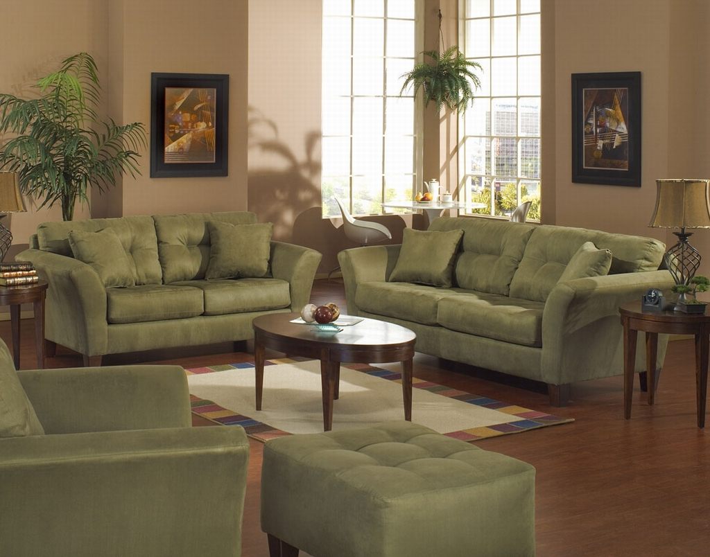Beautiful Living Room Furniture Green Sofa Style Architecture And Interior Design