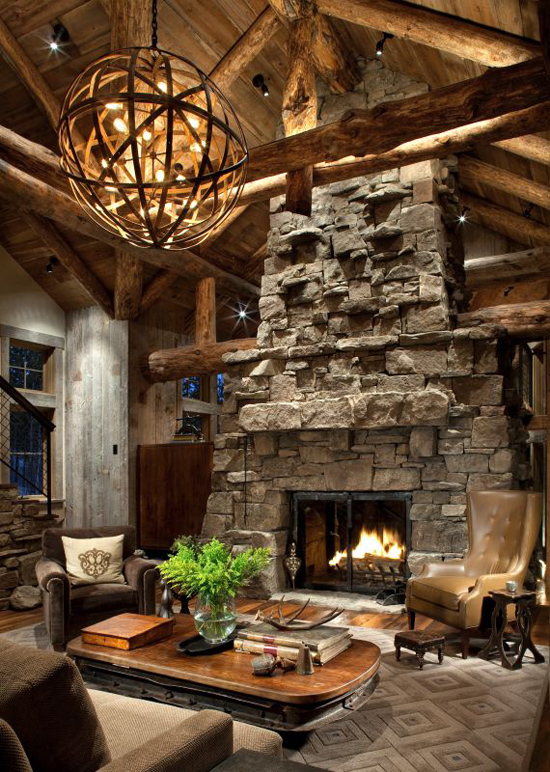 Decoration Chalet Interieur Rustic Retreat With An Industrial Edge In Big Sky