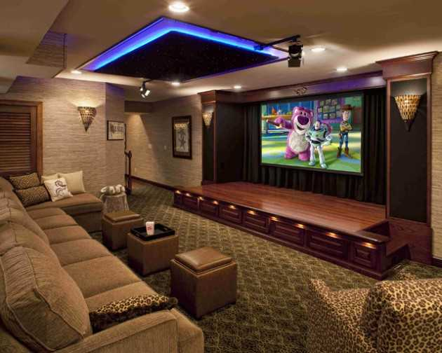 Sofas Grandes De Luxo 22 Contemporary Media Room Design Ideas