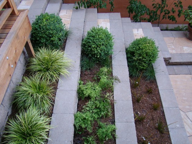 Modern Retaining Wall 25 Wonderful Examples Of Terraced Front Yard Gardens