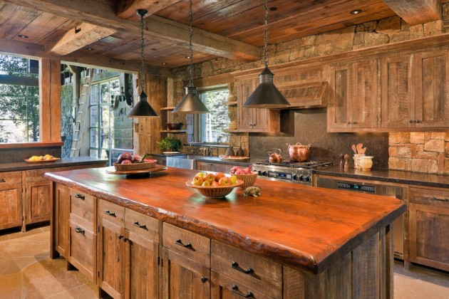 Lamparas Cocina Baratas 15 Warm & Cozy Rustic Kitchen Designs For Your Cabin