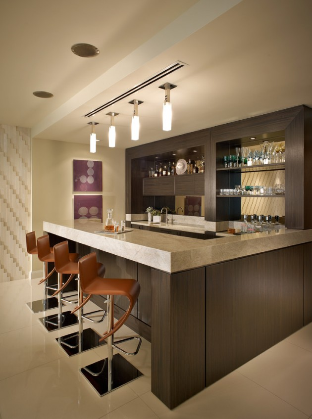 Kitchen Island With Ceiling Posts 15 Majestic Contemporary Home Bar Designs For Inspiration