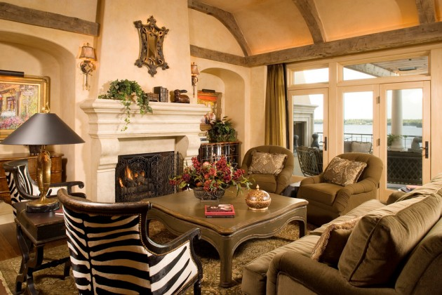 Rustic Modern Family Room 15 Extravagant Mediterranean Living Room Designs That Will