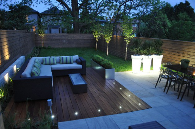 Eclairage Terrasse Led Solaire 19 Divine Contemporary Backyard Designs