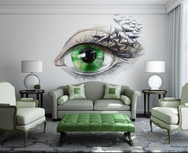 Kreative Deko 15 Refreshing Wall Mural Ideas For Your Living Room