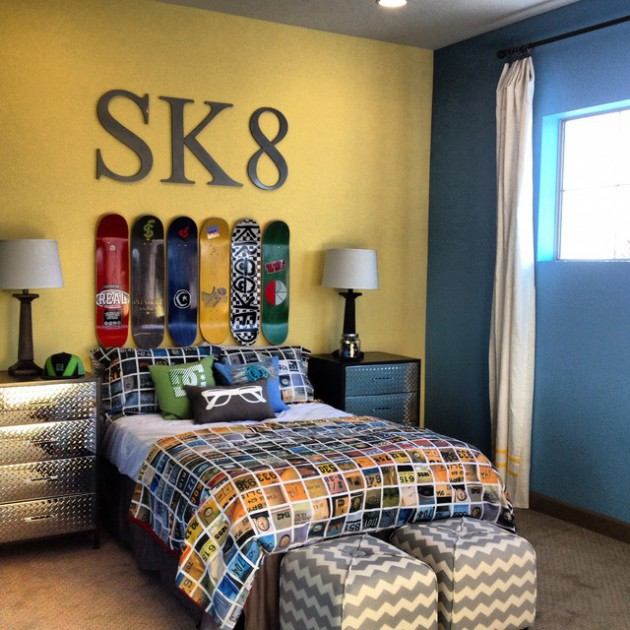 Skater Room Decor 16 Appealing Industrial Kids' Room Designs Your Kids Will Love