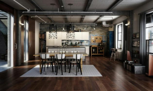 Vintage Industrial Style Küche 15 Gorgeous Loft Design Ideas In Industrial Style