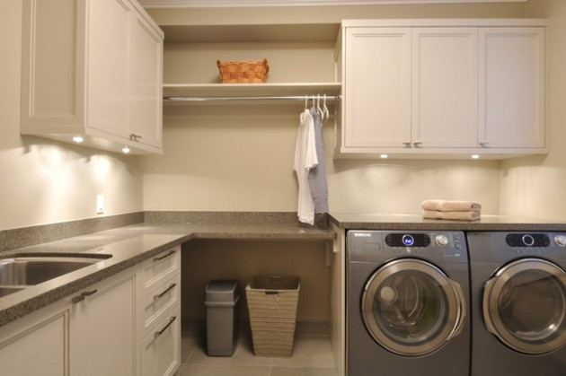 Modern Style Apartments 17 L-shaped Laundry Designs For Better Use Of The Space