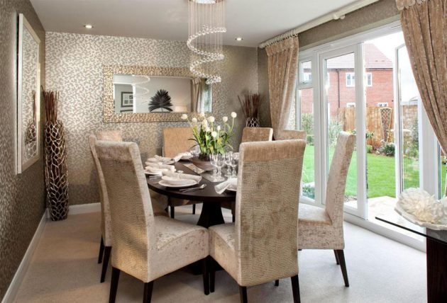 Chaises Interiors 17 Fabulous Dining Room Designs With Modern Wallpaper