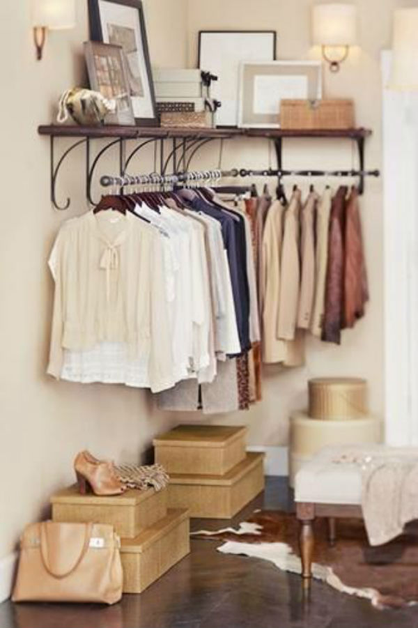 Clothing Storage Ideas For Small Bedrooms 21 Really Inspiring Makeshift Closet Designs For Small Spaces
