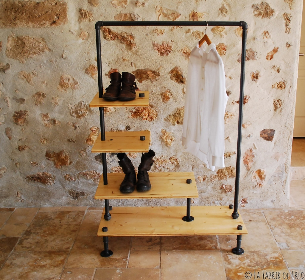 Industrial Clothing Rack 16 Super Simple Clothes Rail Designs That You Can Make By Yourself