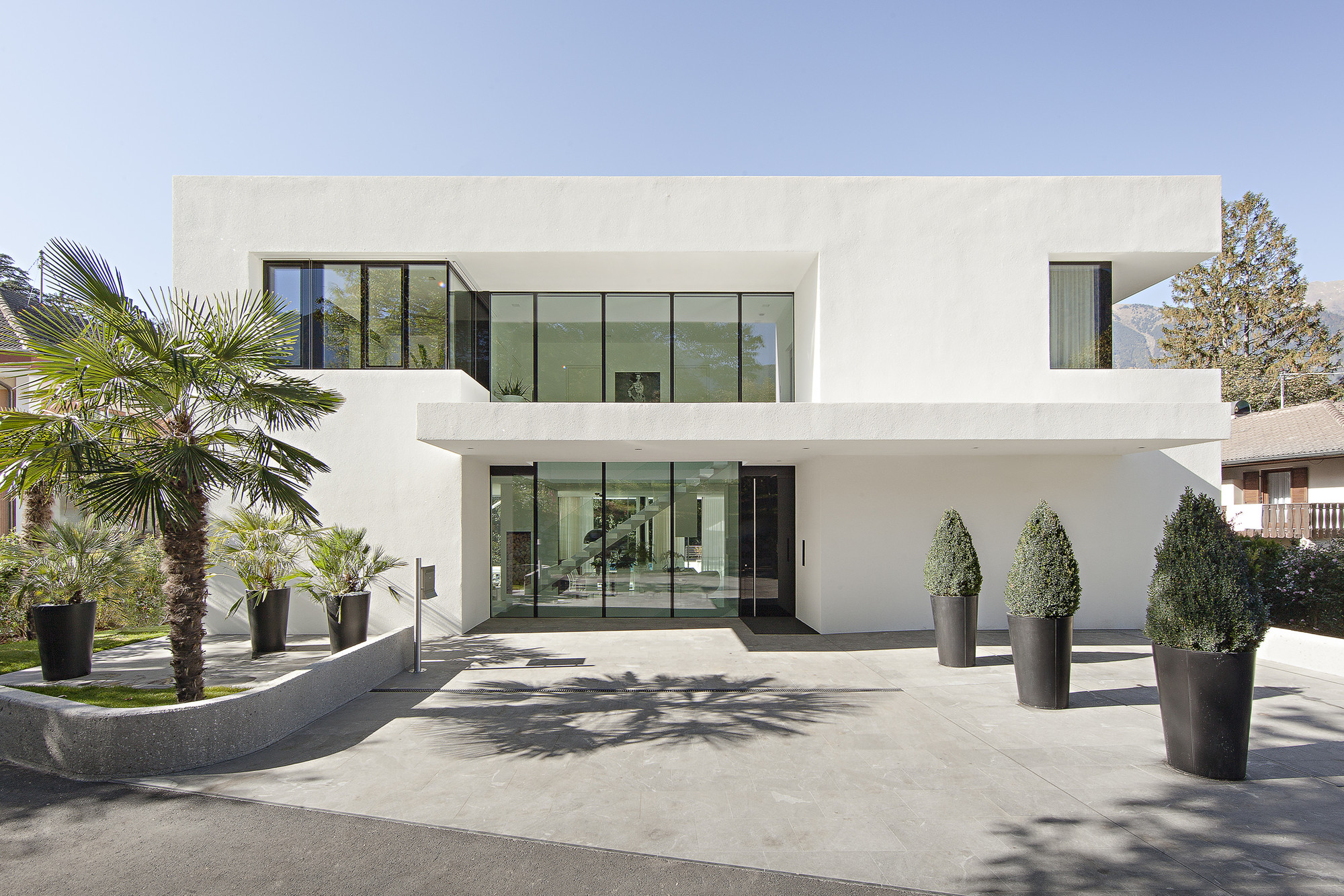 Architectural Design Of Residential Building House M By Monovolume Architecture Design In Meran Italy