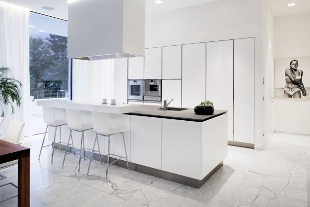 Plan De Travail Laqué Blanc 15 Delightful Kitchen Designs With Marble Flooring For