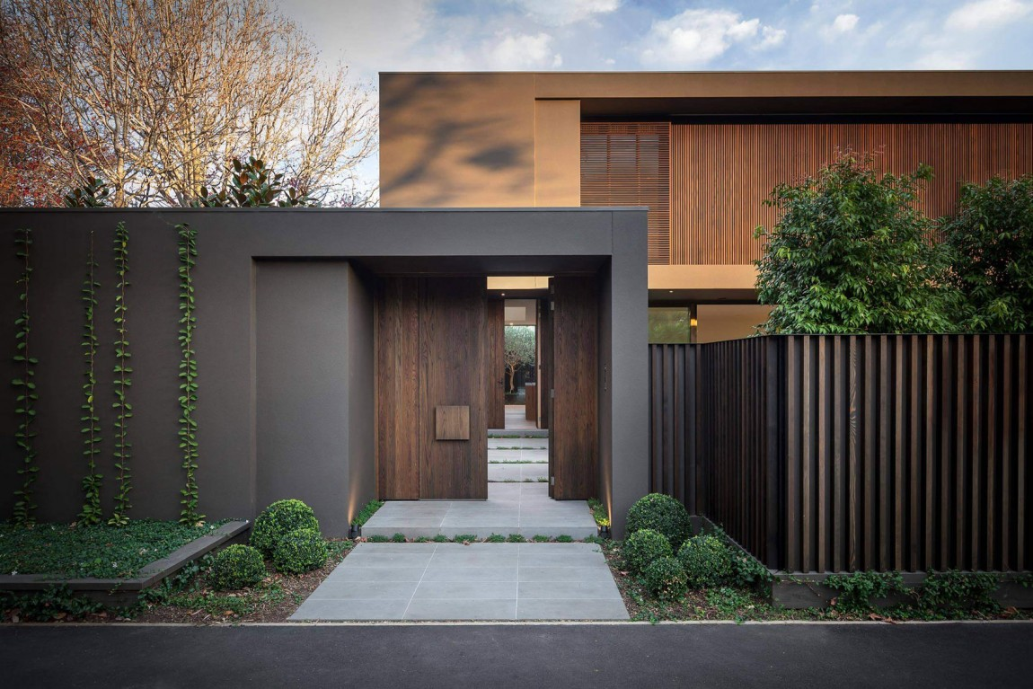 Enduit Facade Marron 40 Modern Entrances Designed To Impress! - Architecture Beast