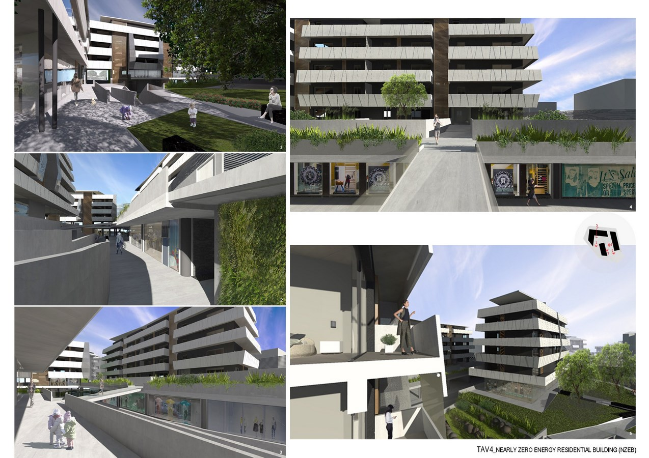 Architectural Design Of Residential Building Nearly Zero Energy Residential Building Nzeb By Scannella