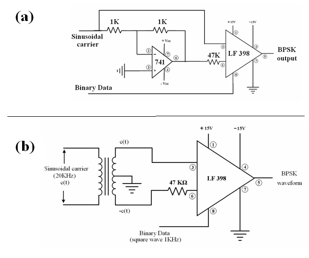 circuit diagram of qpsk