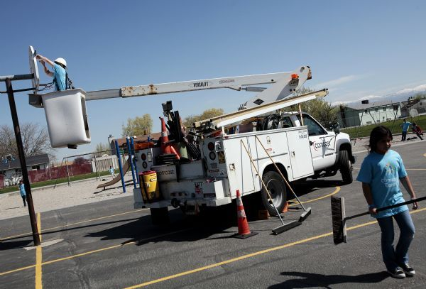 Hundreds of Wasatch Front volunteers joined Comcast to care for
