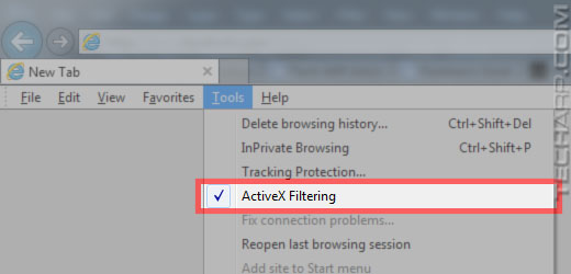 Tech ARP - ED#147  ActiveX Filtering In Internet Explorer 9 And 10