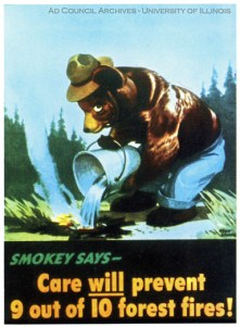 Forest Fire Prevention poster - Smokey Bear 1945