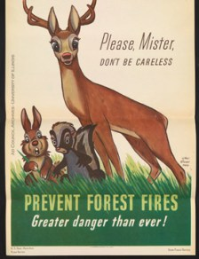 Forest Fire Prevention poster, 1943 Found in Ad Council Historical File, 1941-1997, RS 13/2/207, File 337