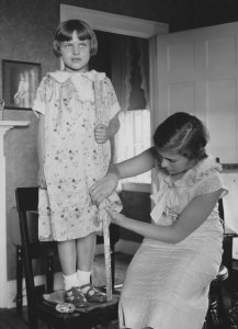Home Sewing, McLean County, Illinois, 1936