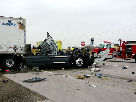 Two Seriously Injured In Two Truck Crash In Prowers County
