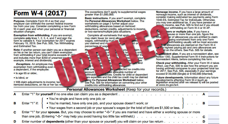 How Often Should an Employee Update Their W4 Form? - Arch Resource Group - employee update form