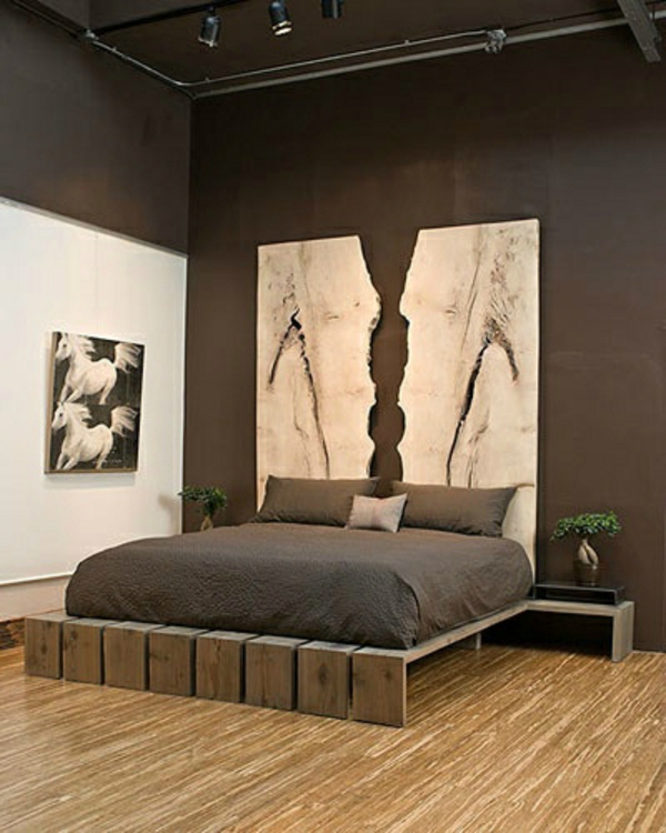 50 Perfectly Minimal and Inspiring Bedrooms Rustic bed, Bedrooms - idees deco chambre parentale