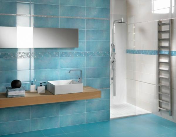 Salle De Bain Bleu Turquoise Et Blanc