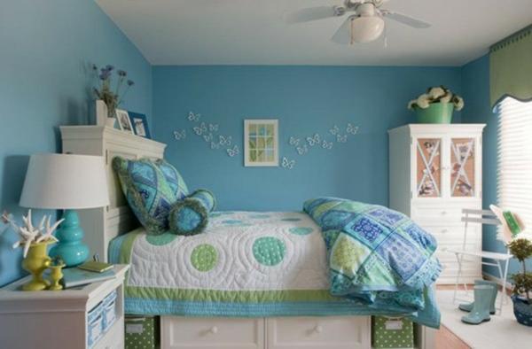 Chambre Fille Bleu Turquoise | Pochons Rangement Réversibles Chambre ...